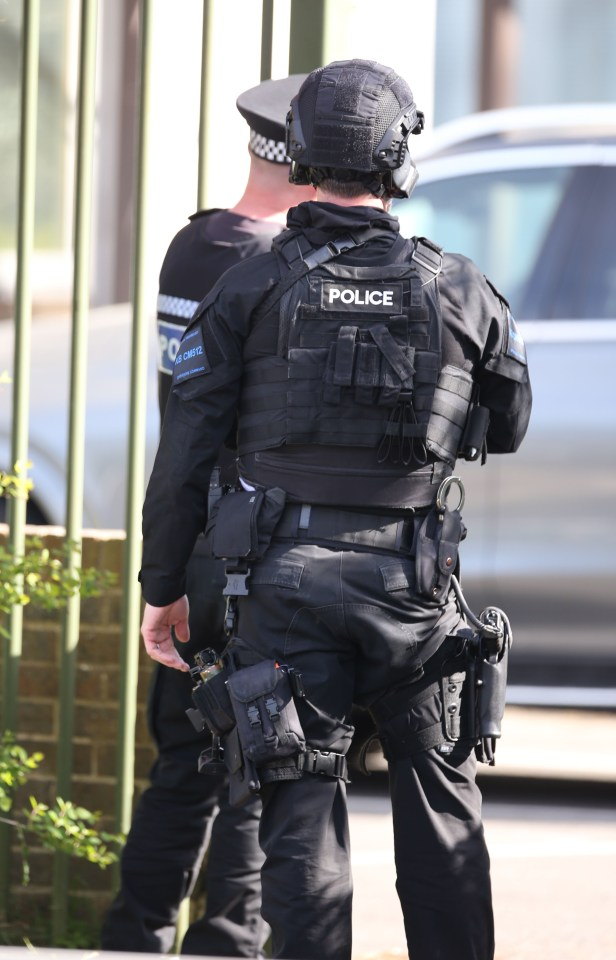 Armed cops are dealing with an incident near Crawley College