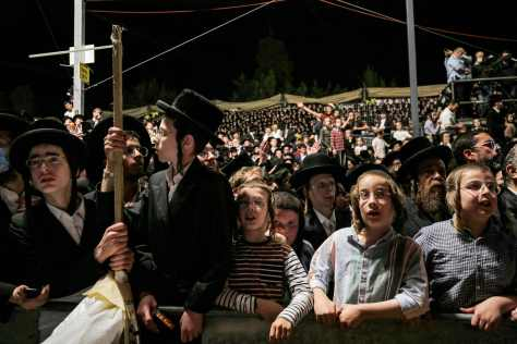 People were seen celebrating Lag BaOmer before the disaster struck this evening