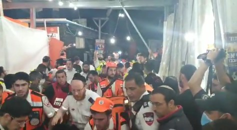 Medics confirmed that dozens of people had been hurt at the event in northern Israel