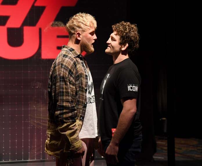 Jake Paul and Ben Askren face off ahead of their fight