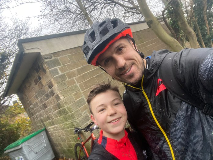 Richard Wood's son Jenson joined him for the first 20k of his 100k charity bike ride