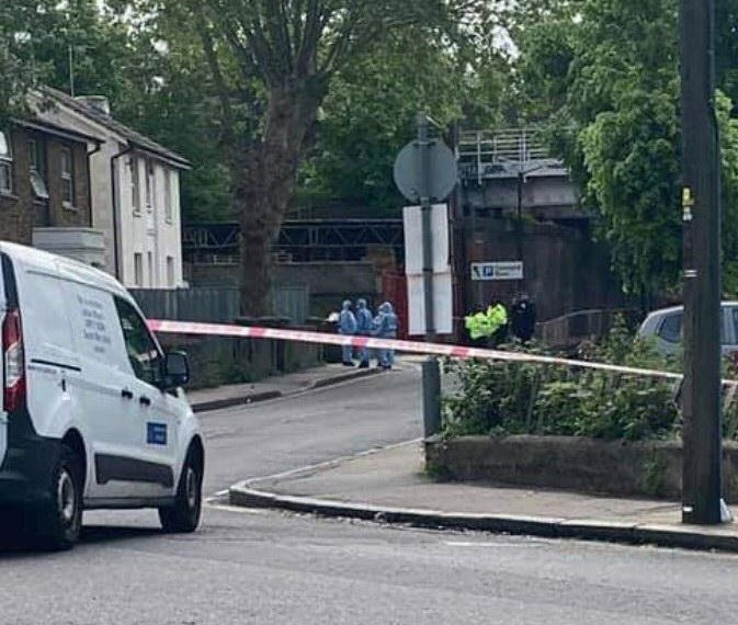 Police probing the shooting in Peckham this morning