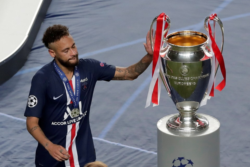He suffered Champions League heartache as PSG lost to Bayern Munich in the 2020 final