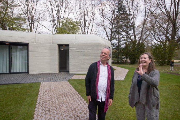 Harrie Dekkers and Elize Lutz' new home is a two-bed bungalow in Eindhoven