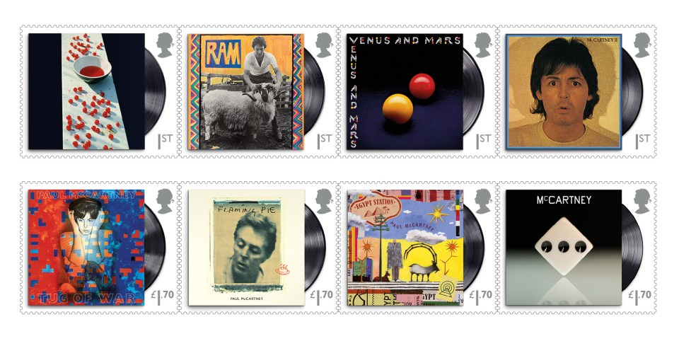 Royal Mail collaborated closely with the 78-year-old to create the special set