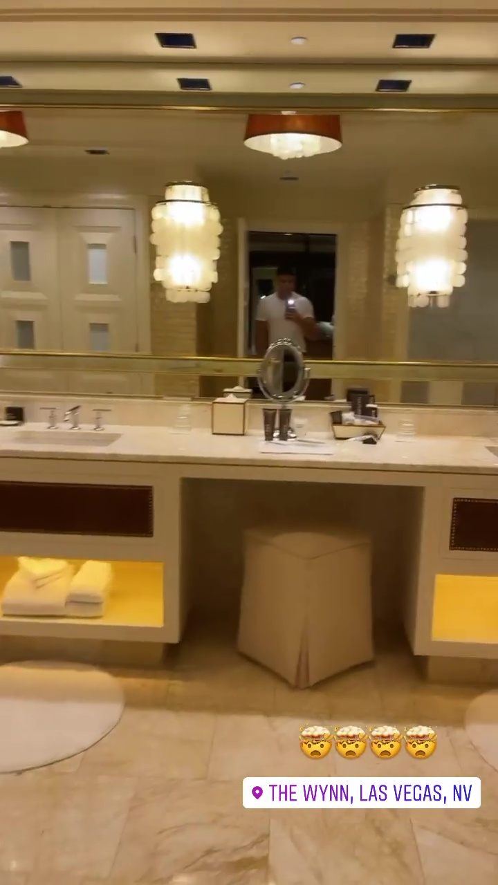 He has a plush suite at The Wynn