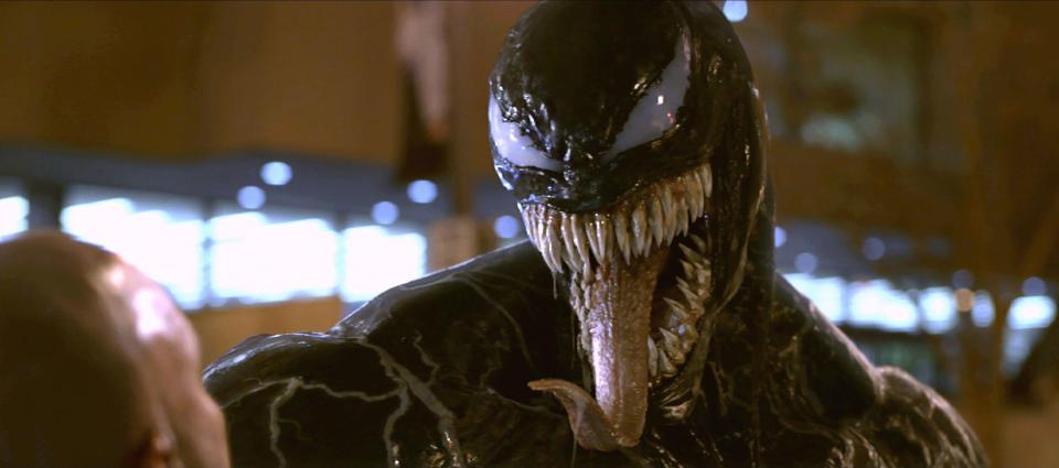 Brock remains Bonded to Venom at the end of the movie