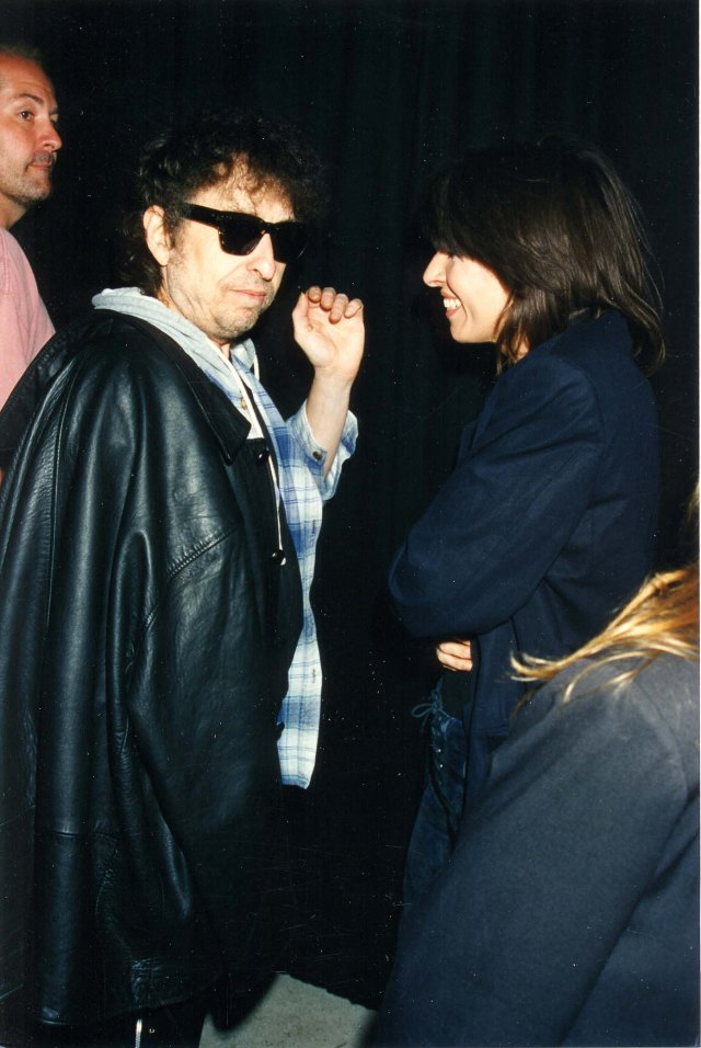 Chrissie Hynde, seen with Dylan in 1995, says 'he's done all this amazing stuff but people overlook that he's a comedian'