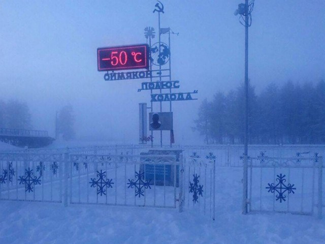 Oymyakon is the world's coldest village
