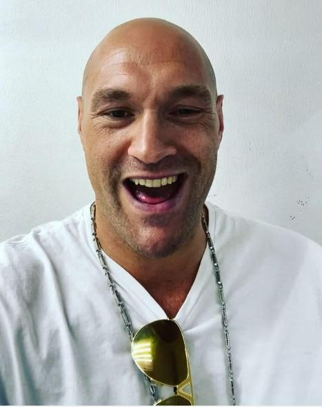Tyson Fury showed his excitement for the fight with a social media clip