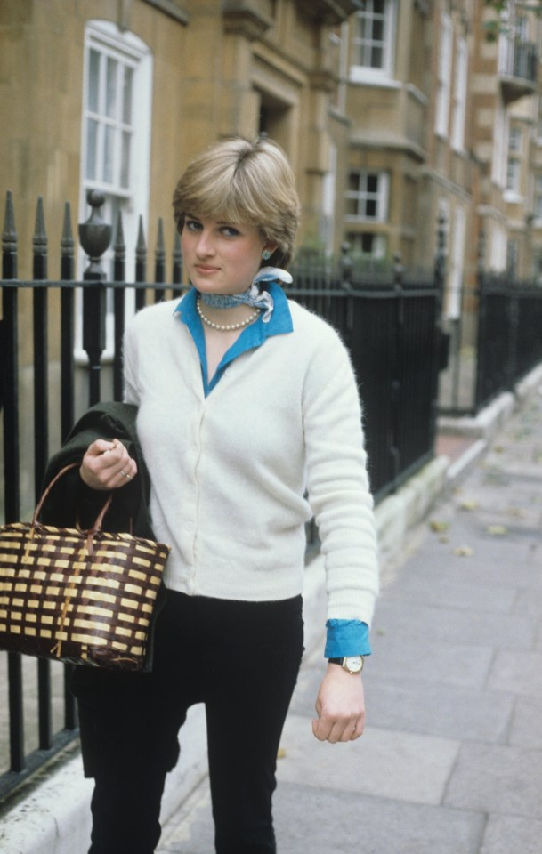 Diana when she was working at the Young England kindergarten in Pimlico, where she taught the children to paint, draw and dance