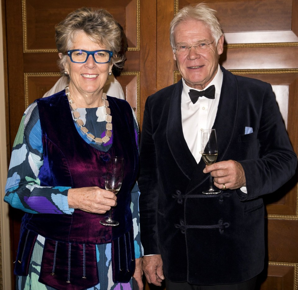 Prue with husband John Playfair, her second husband after Rayne Kruger