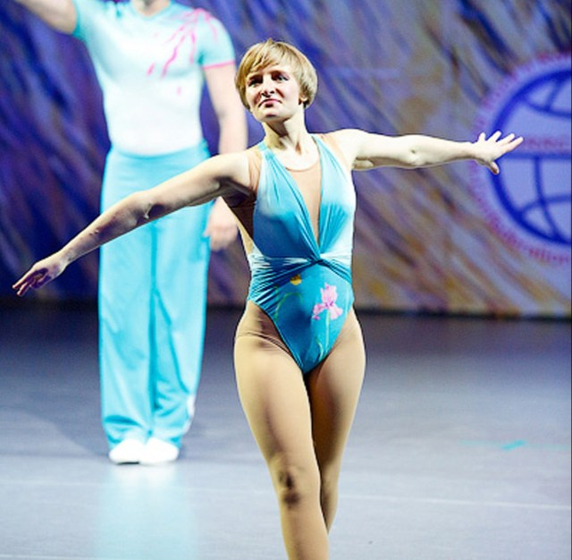 Katerina Tikhonova performing as a dancer, before she changed paths to become a mathematician