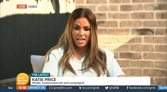 Katie Price's interview was thrown into chaos