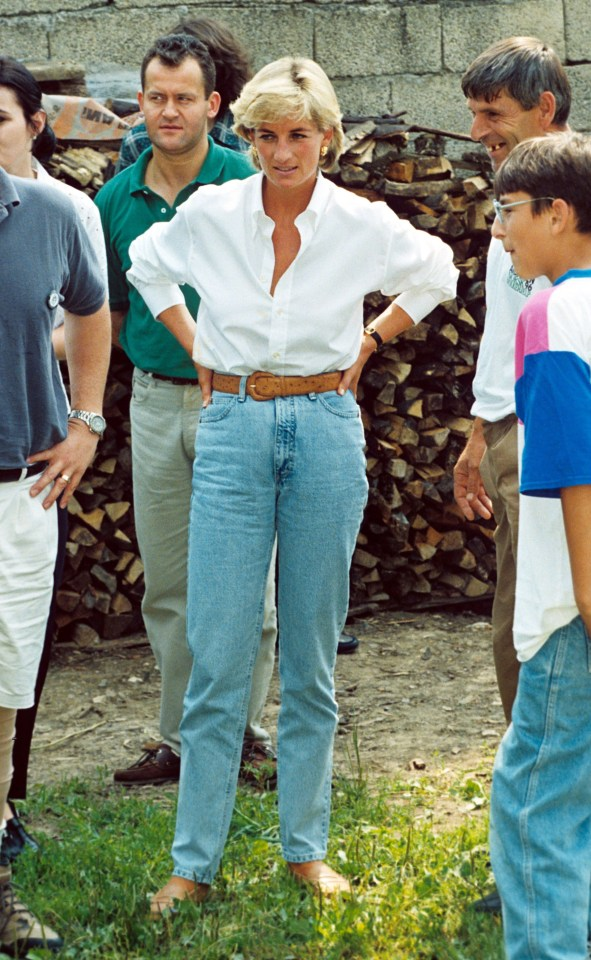 The princess started the trend of wearing mom jeans for every occasion