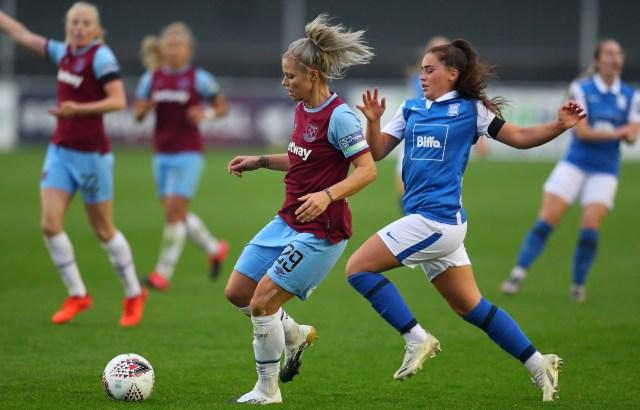 Napier has been released following her loan stint with Birmingham last season