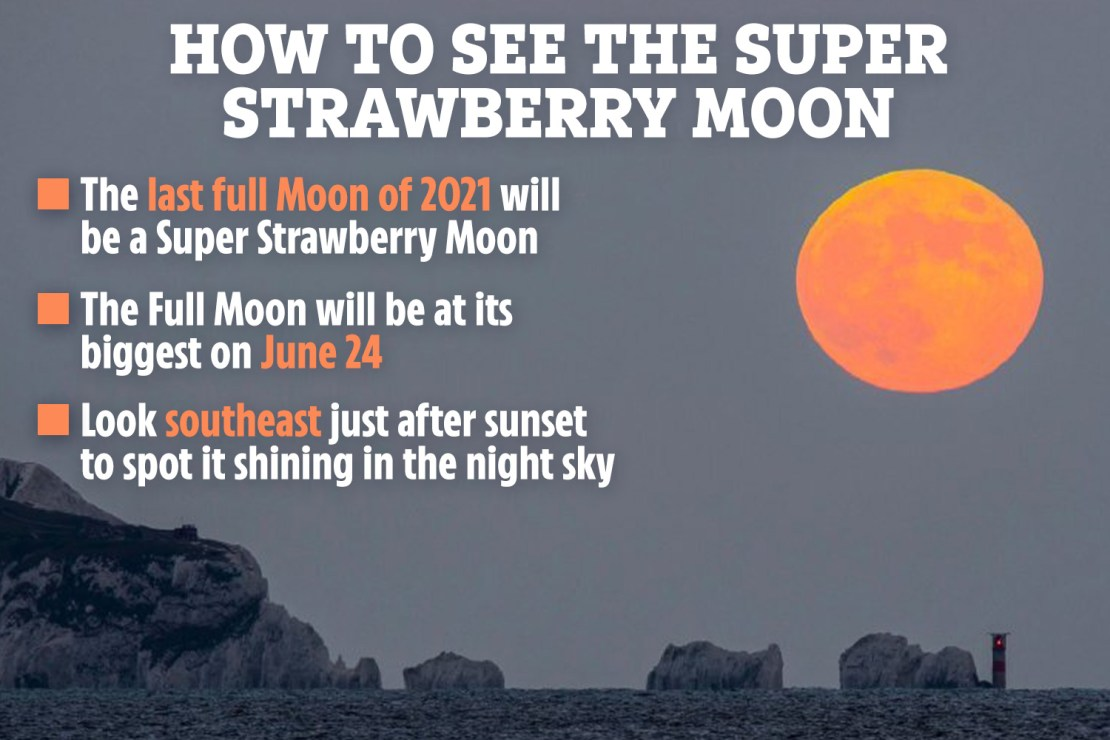 Look southeastwards after sunset on June 24 to spot it