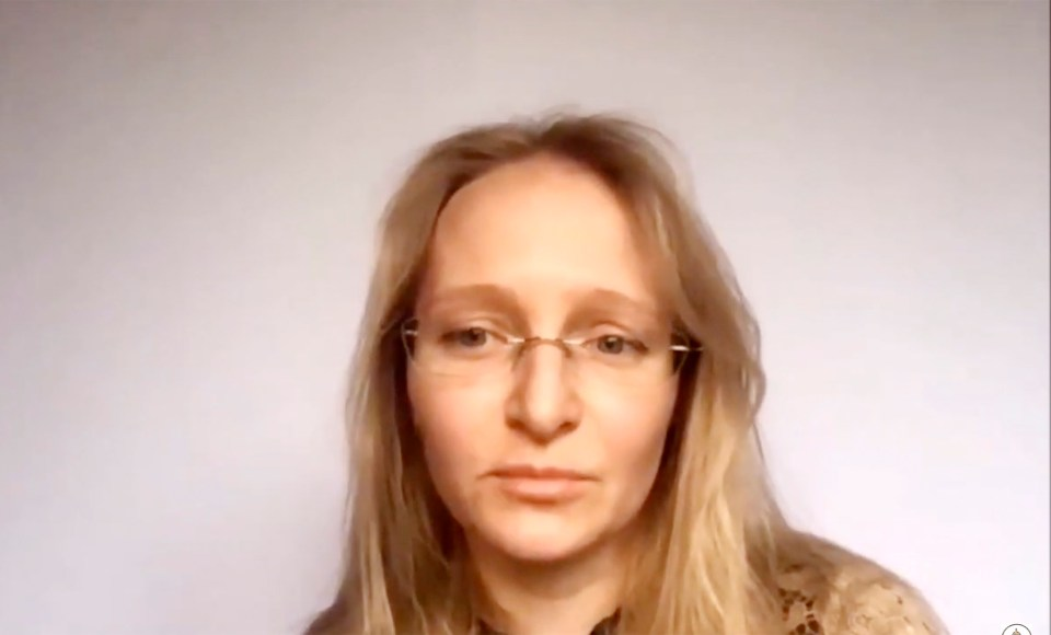 Katerina Tikhonova speaks at the St. Petersburg International Economic Forum this year