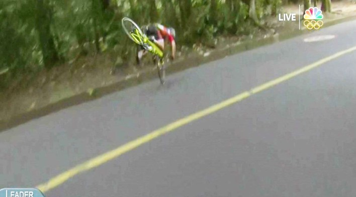 Annemiek van Vleuten was on her way to a gold medal when this accident happened