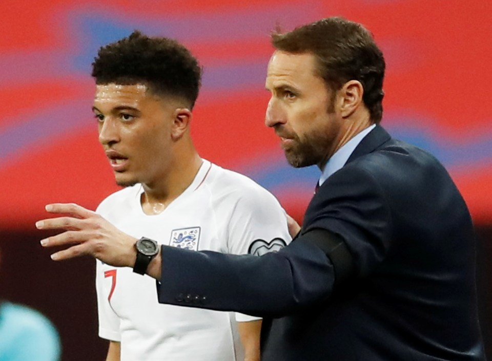 England boss Gareth Southgate doesn't seem to want to risk it with Jadon Sancho