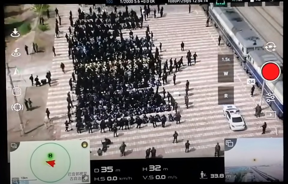 Drone footage that emerged last year is thought to show scores of Uighur being loaded onto trains