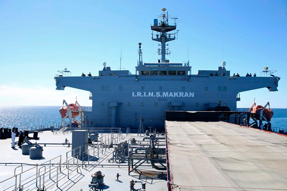 The Makran is an intelligence gathering support vessel