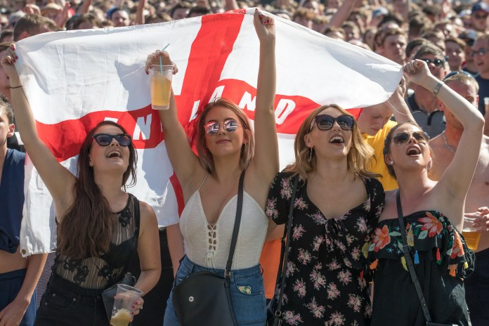 England fans will be raising their singing voice