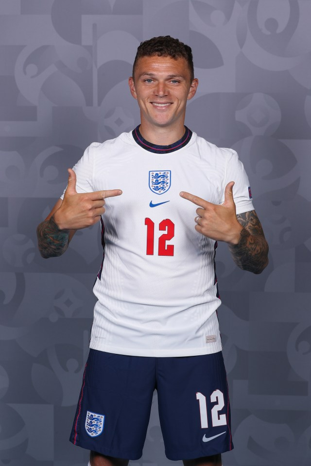 The full-back has been named as one of Southgate's 26 Three Lions