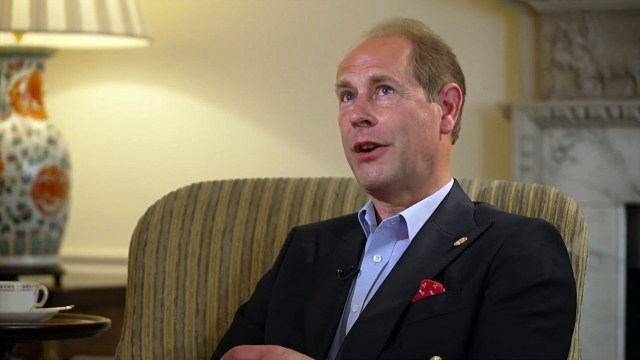The Queen's son Prince Edward currently sits 12th in line to the throne
