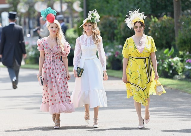 Women have donned their fanciest frocks and jaw-dropping hats for the launch of Royal Ascot 2021
