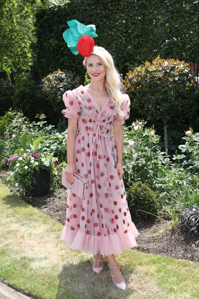 This stunning racegoer went for a fruit theme with a strawberry dress and matching headpiece