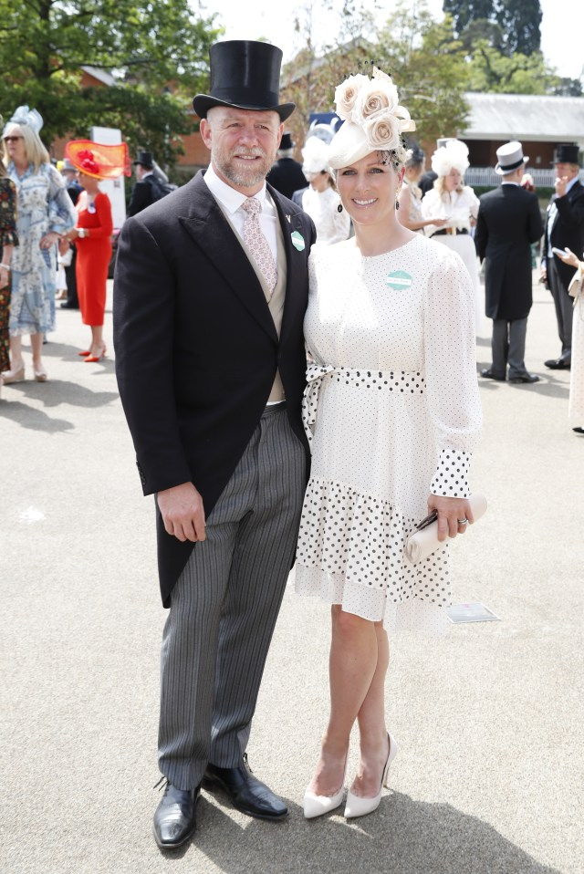 While the Queen may be absent, her granddaughter Zara Tindall, and former rugby player husband Mike have cut a stylish figure at the event