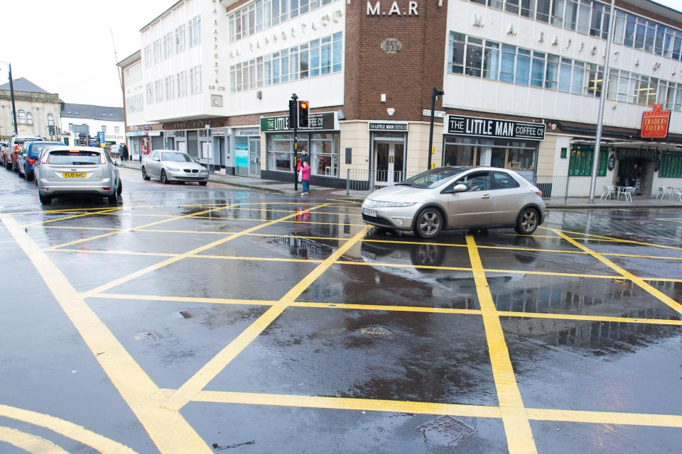 Drivers from outside of London will face fines for stopping in yellow box junctions