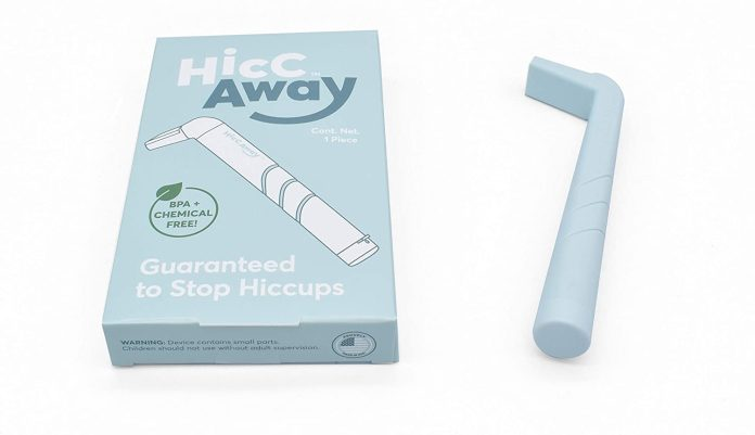 The HiccAway straw interrupts hiccups and keeps them at bay