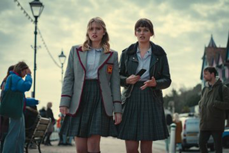 Aimee Lou Wood (left) is back as the ditzy blonde of the series