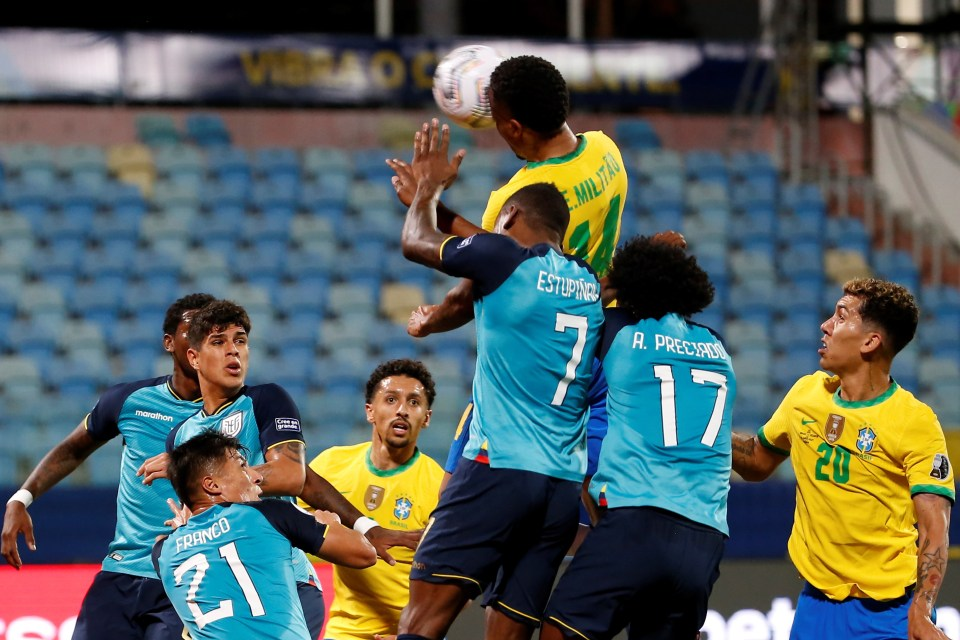 Eder Militao scored for Brazil as they completed their Copa America group with a 1-1 draw