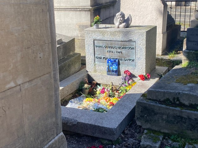 Morrison's grave in Paris is now a shrine to the musician