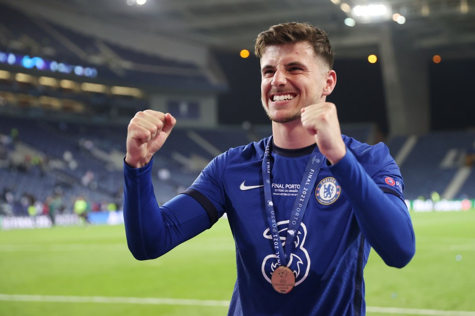 Mason Mount pictured with his Champions League medal