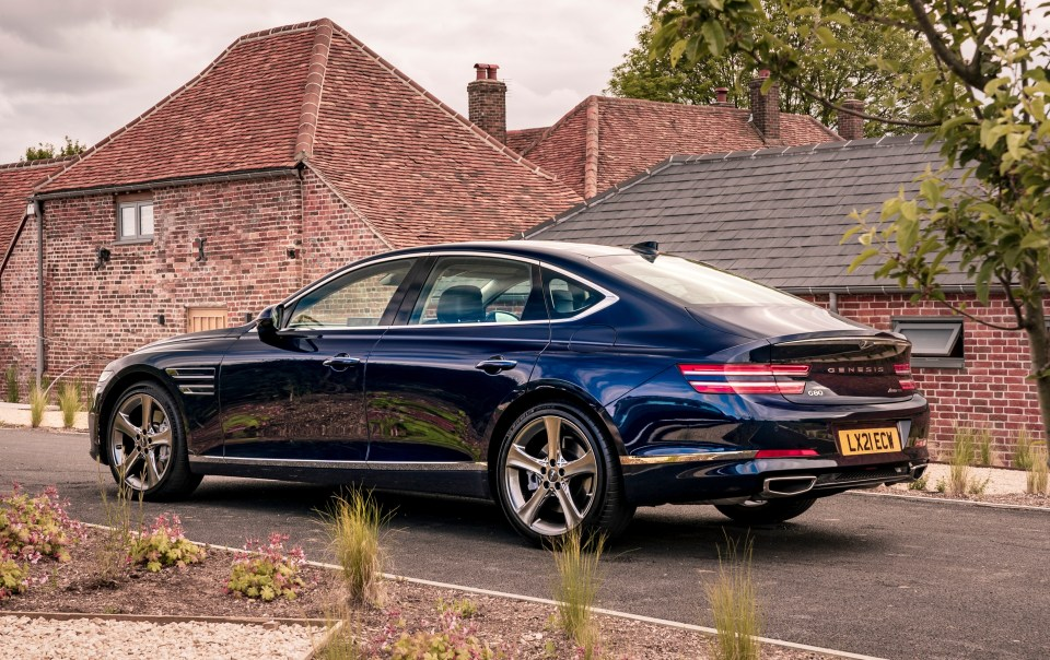 The G80 saloon has a 2.2-litre 210hp diesel, rear-wheel drive, at £37k