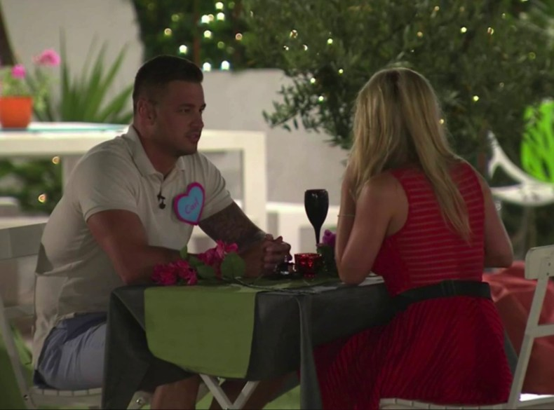 He also made a move on Zara Holland during the speed-dating event