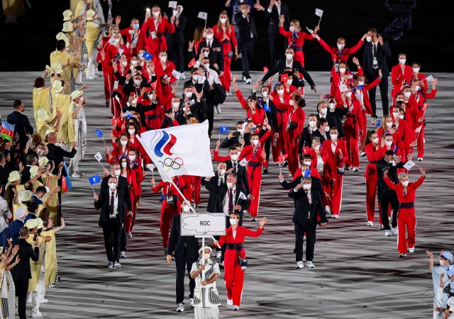 The ROC team enter the Tokyo Olympics