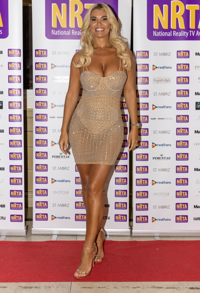 The blonde beauty showed off her incredible figure in the figure-hugging number