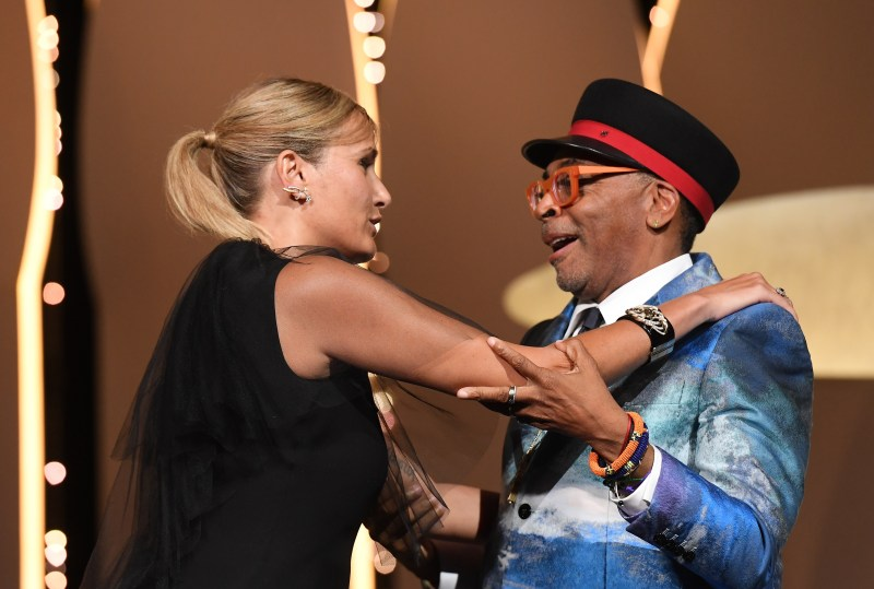 Spike Lee announces French director Julie Ducournau wins the top prize for her film Titane