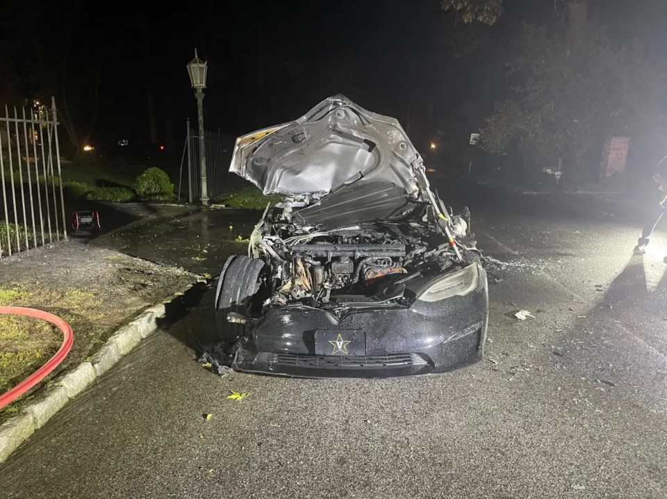 The driver experienced a hair-raising moment when his Tesla spontaneously combusted