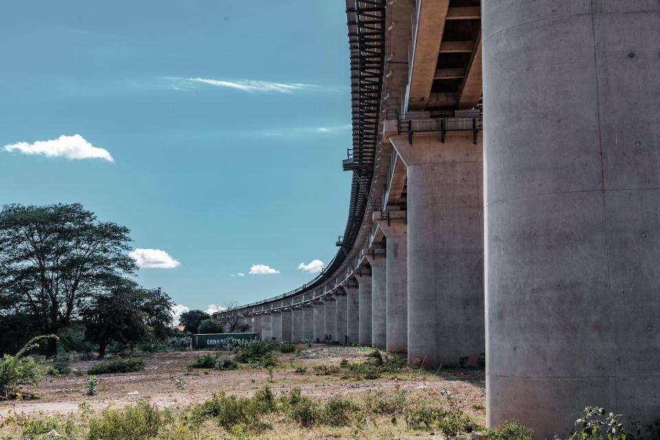 The railway in Kenya was supposed to weave 290 miles