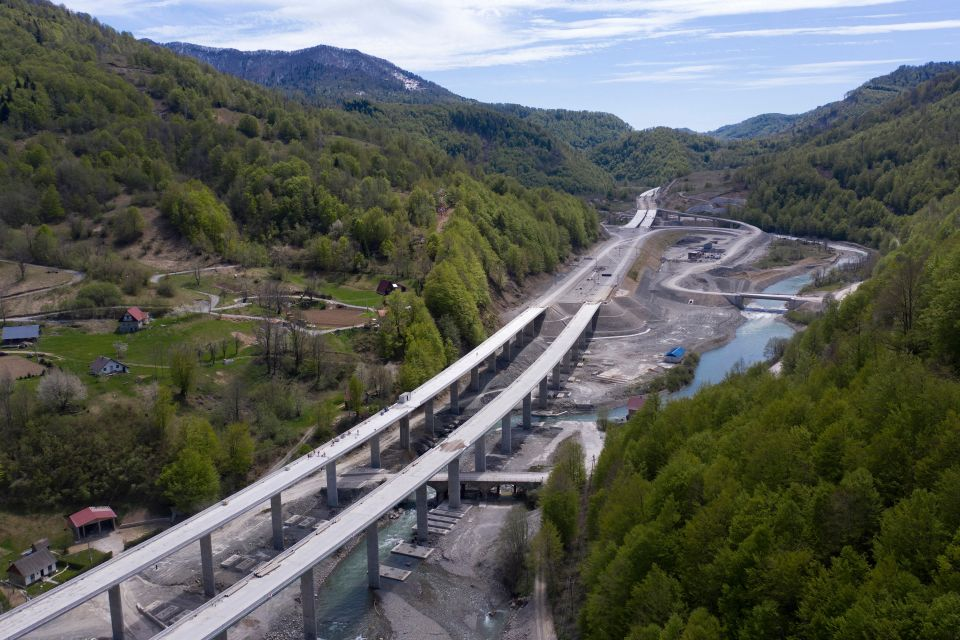The highway in Montenegro - which effectively goes nowhere