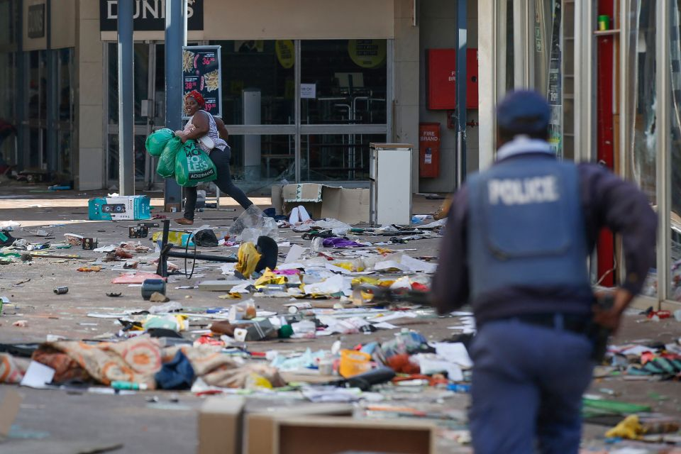 Riots began on Friday after Zuma was jailed
