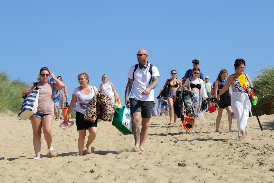 There's a holiday atmosphere at Camber Sands