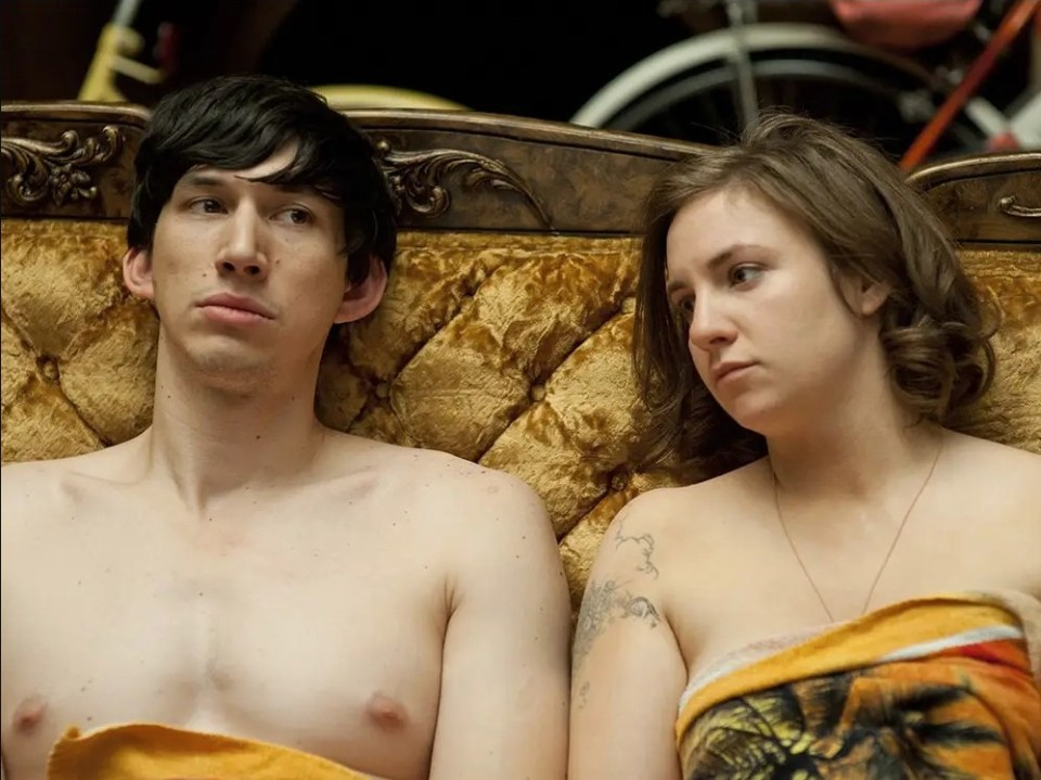 Lena Dunham decided to ditch the 'nude patch' after season one of Girls, which co-starred Adam Driver