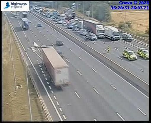 An incident on the M1 resulted in full closure of the motorway